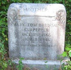 Mary Tom <I>Brunson</I> Culpepper