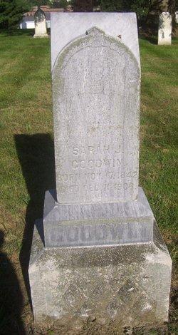 Sarah J <I>Rogers</I> Goodwin