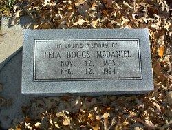Lela <I>Boggs</I> McDaniel