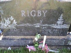 Mary C. <I>Oliphant</I> Rigby