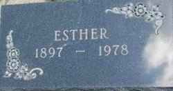 Esther <I>Matson</I> Anderson