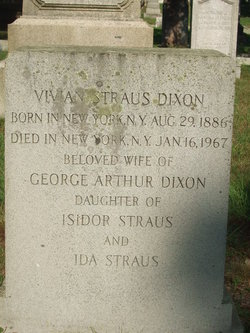 Vivian <I>Straus</I> Dixon