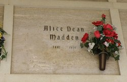 Alice Virginia <I>Dean</I> Madden