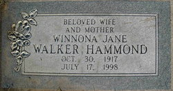 Winnona Jane <I>Walker</I> Hammond