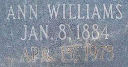 Ann <I>Williams</I> Huntsman