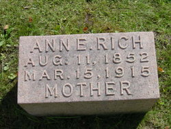 "Anna Eliza ""Anne"" <I>Bellward</I> Rich"