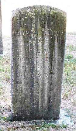 Hannah Varnum <I>Noyes</I> Abbott