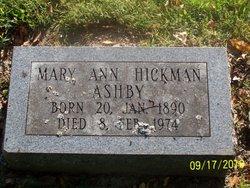 Mary Ann <I>Hickman</I> Ashby