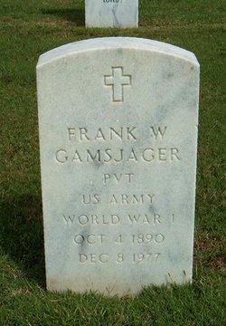Frank W Gamsjager