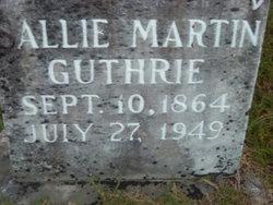 Sallie <I>Martin</I> Guthrie
