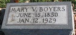Mary Virginia <I>Clatterbuck</I> Boyers