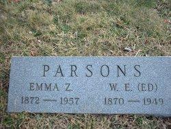 Emma Z <I>Brogan</I> Parsons