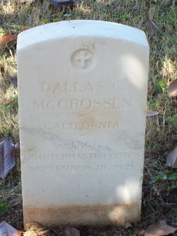 Sgt Dallas C. McCrossen
