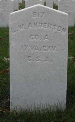 Pvt Lawance W. Anderson