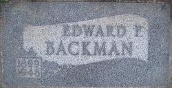 Edward Francis Backman