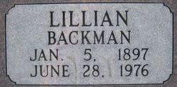 Lillian Leora <I>Backman</I> Simmons