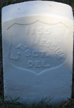 Sgt Elias T Messick
