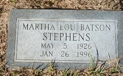 Martha Lou <I>Batson</I> Stephens