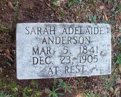 Sarah Adelaide <I>Tuggle</I> Anderson