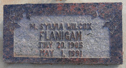 Sylvia Margaret <I>Wilcox</I> Flanigan