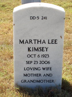 Martha <I>Lee</I> Kimsey