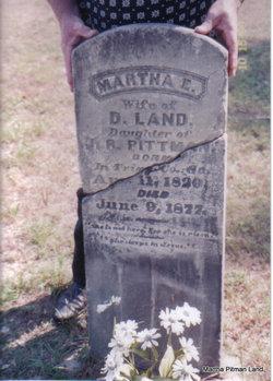 Martha Elizabeth <I>Pitman/Pittman</I> Land
