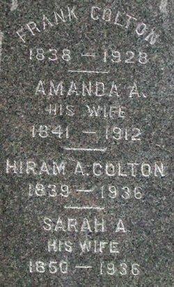 Sarah A <I>Van Allen</I> Colton