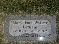 Mary Joan <I>Walker</I> Letham