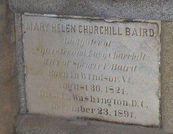 Mary Helen <I>Churchill</I> Baird