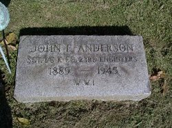 Sgt John F Anderson