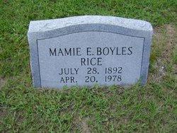 Mamie Elizabeth <I>Boyles</I> Rice