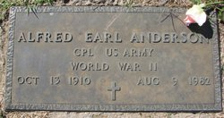 """Alfred Earl """"Andy"""" Anderson"""