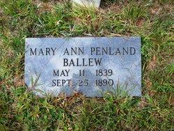 Mary Ann <I>Penland</I> Ballew