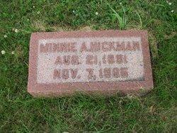 Minnie Alice <I>Showalter</I> Hickman