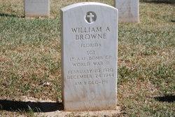 SGT William A Browne