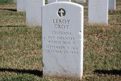 PVT Leroy Croy