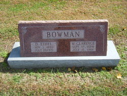 D Ethel Bowman