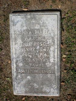 Anna Maria <I>Rose</I> Aaron
