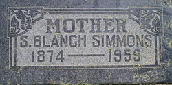 Sarah Blanch <I>Thornley</I> Simmons