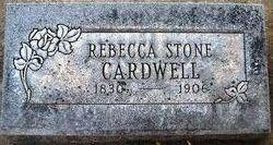 Rebecca <I>Stone</I> Cardwell