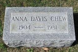 Anna <I>Davis</I> Chew