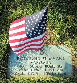 Sgt Raymond G Mears