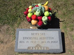 Betty Sue <I>Stockstill</I> Albritton
