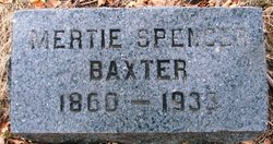 Mertie <I>Spencer</I> Baxter