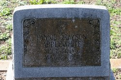 Fannie <I>Grayson</I> Applewhite