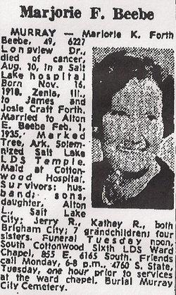 Marjorie Katherine <I>Forth</I> Beebe