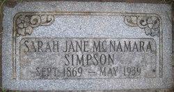 Sarah Jane <I>McNamara</I> Simpson