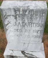 Elizabeth <I>Jamar</I> Curtis