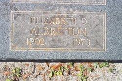 """Elizabeth Dean """"Bessie"""" <I>Jones</I> Albritton"""