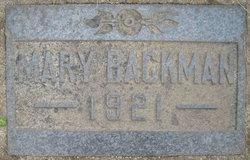 Mary Backman